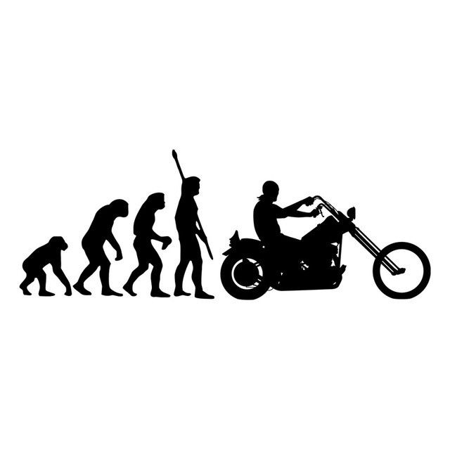 Human Evolution Motorcycle Vinyl Decal Human Evolution And Products - Custom motorcycle stickers funny