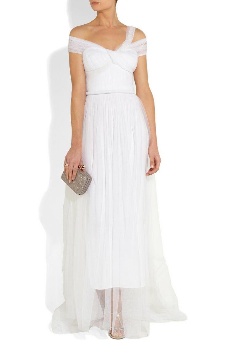 Sophia Kokosalaki|Metis tulle-covered silk gown |NET-A-PORTER.COM