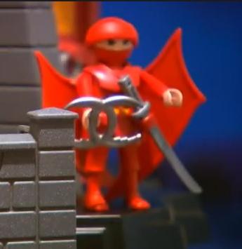 Winged ninja figure