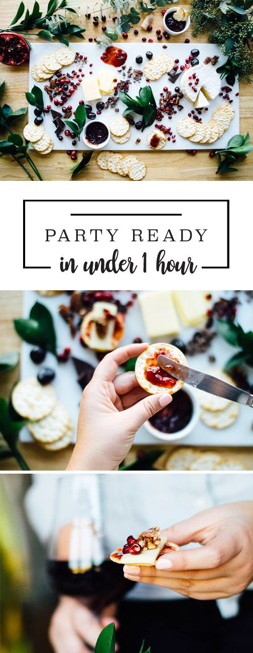 The holidays should be a time of festive cheer—not unnecessary stress! That's where this guide on How To Be Party Ready in Under 1 Hour comes in handy! Complete with last-minute tips and tricks, delicious recipes, and entertaining inspiration, you won't believe how easy it is to host a fun and delicious get-together. Simply grab the Mirassou Pinot Noir, Smucker's Strawberry Fruit and Honey Spread, Sahale Snacks Valdosta Pecans Glazed Mix, and Carr's Table Water Crackers from Target