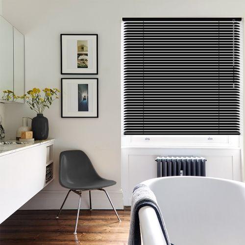 Soft Black Venetian blinds
