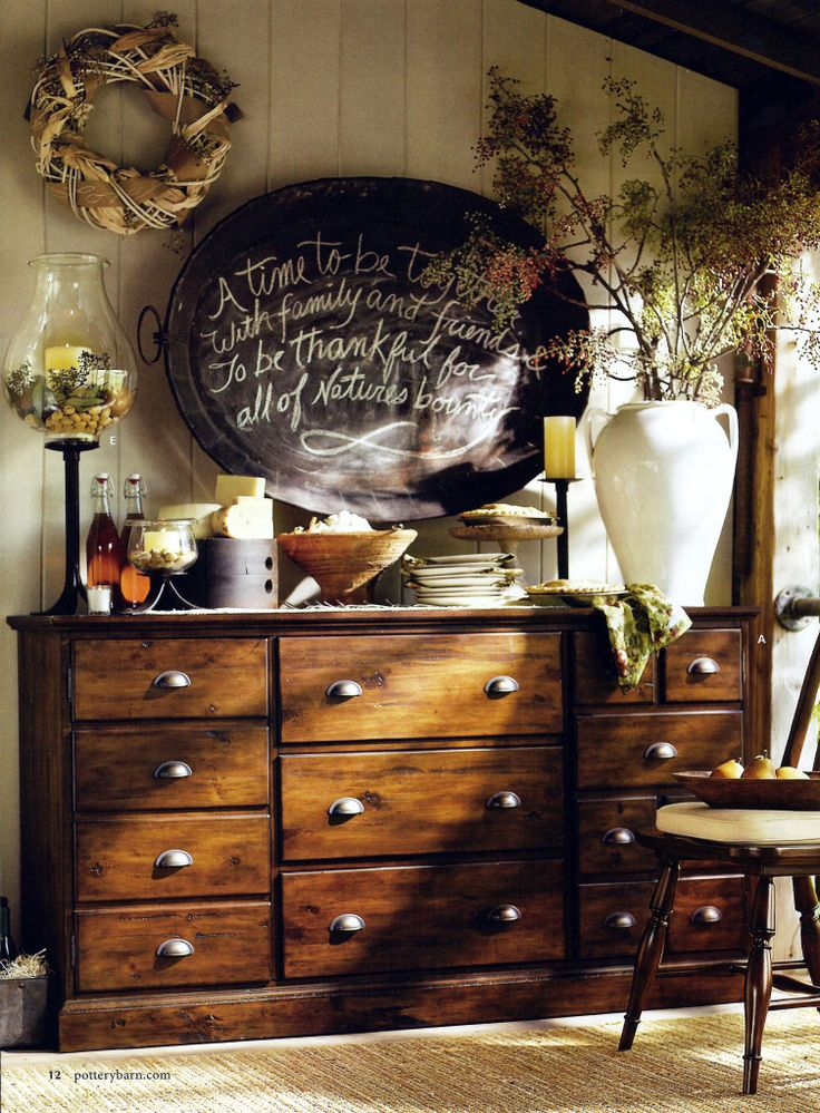 From Pottery Barn a million years ago. It may be a million years ago, but I still love that warm, neutral, rustic look.: