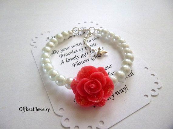 Pearl Flower Girl Bracelet Flower Girl Jewelry Flower Girl