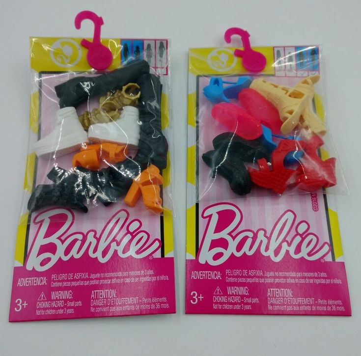 Mattel Barbie Shoes - 2 Packs - 5 Pairs Each - Gladiator, Sneakers, Platform Etc #Mattel