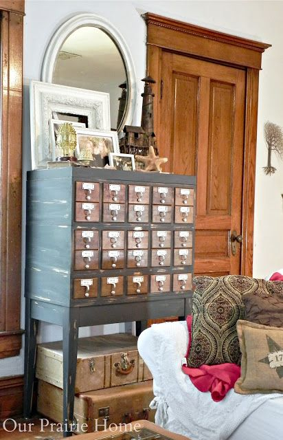Repurposed Card Catalog Roundup - One Dog Woof