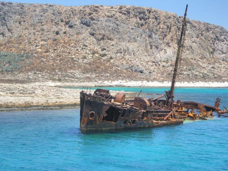 Shipwreck in Gramvousa, Chania, Crete