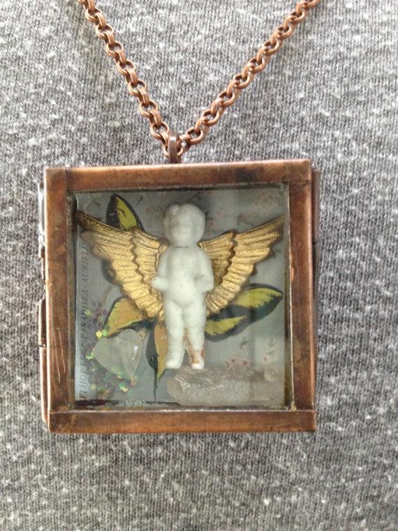 Mother's Day Gift Angel Frozen Charlotte Locket by Eden Condensed.