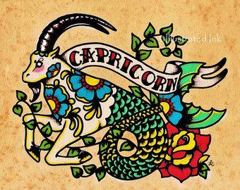 VISSEN Print Tattoo Art Vissen Astrologie door illustratedink