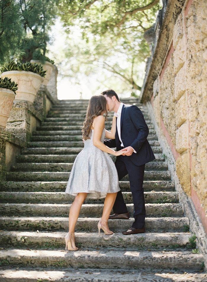 Classic. Stilettos & fit and flare dress. Ozzy Garcia Photography | Nicole & Aaron Vizcaya Engagement Session