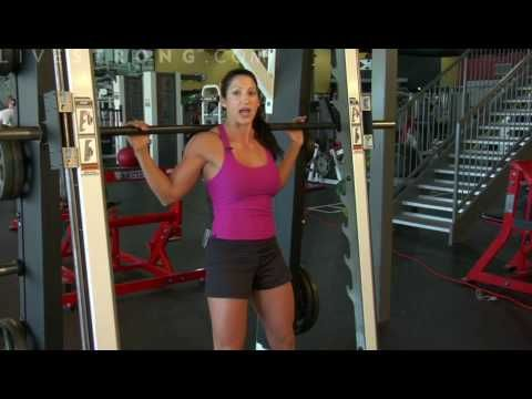 How to do squats on the Smith machine. I love Livestrong!