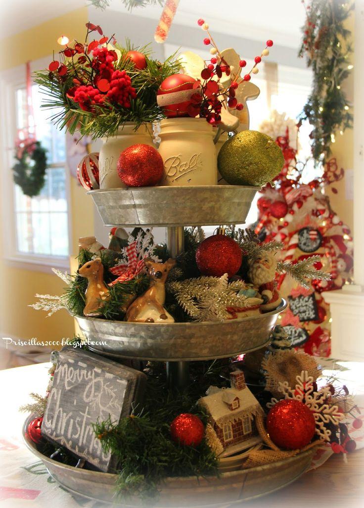 Christmas Galvanized Tray Centerpiece Christmas Ideas