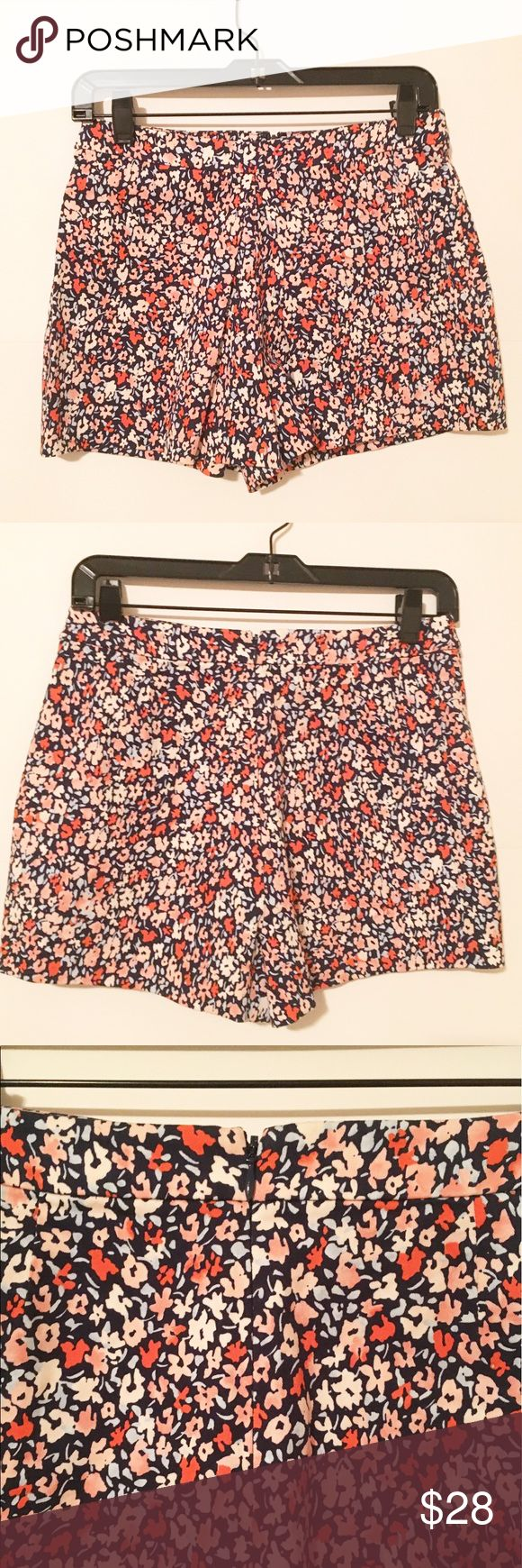 BCBG High Waist Floral Shorts 🌷 These are so darn cute and perfect for spring! High waist fit and zip up in the back, these are in brand new condition/have no signs of wear. 99% cotton, I love these shorts because you can pair them with almost any top! Bundle and save 20% ♥ BCBGeneration Shorts