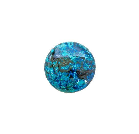Chrysocolla round cabochon 38.90 carat by SARAHHUGHESfinegems