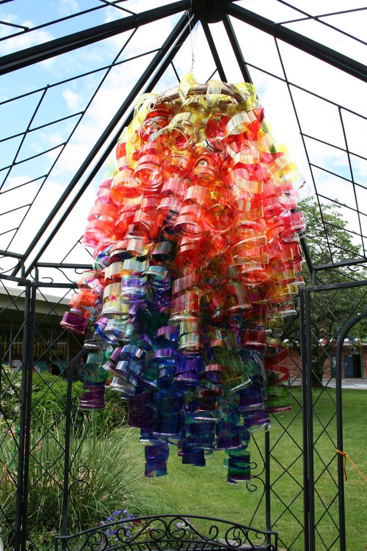 58 best water bottle art images on pinterest recycled for Plastic water bottle art