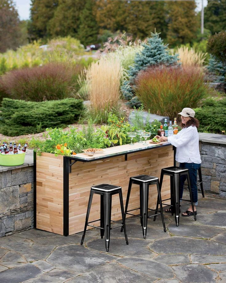 large wooden planters for outside