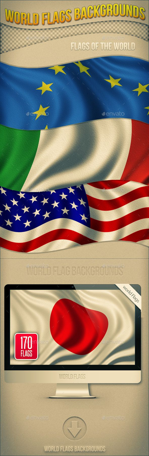 Pics photos desk with flag in background photographic print by - World Flags Backgrounds