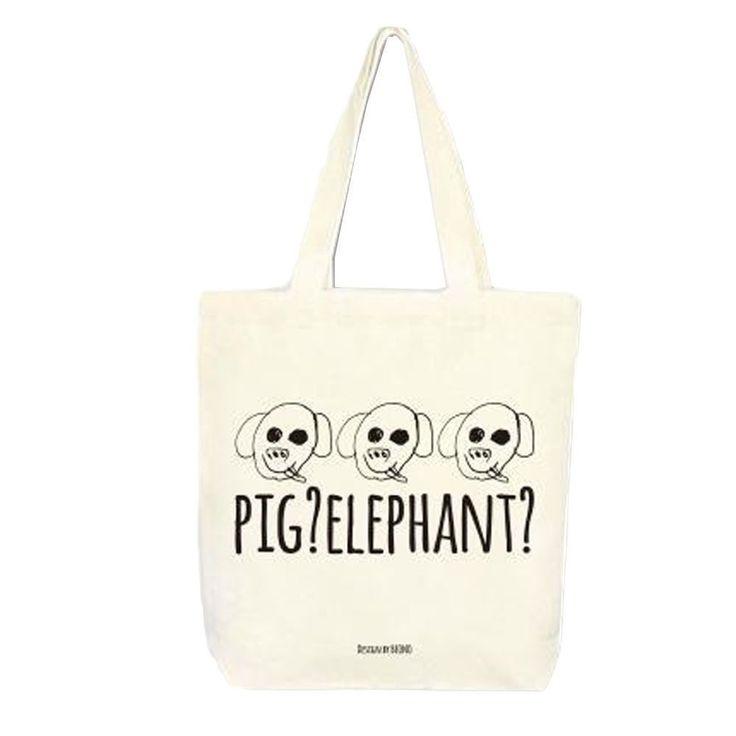 DesignComfics Ecobag-DaeKKiri Canvas Shoulder Bag #DesignComfics