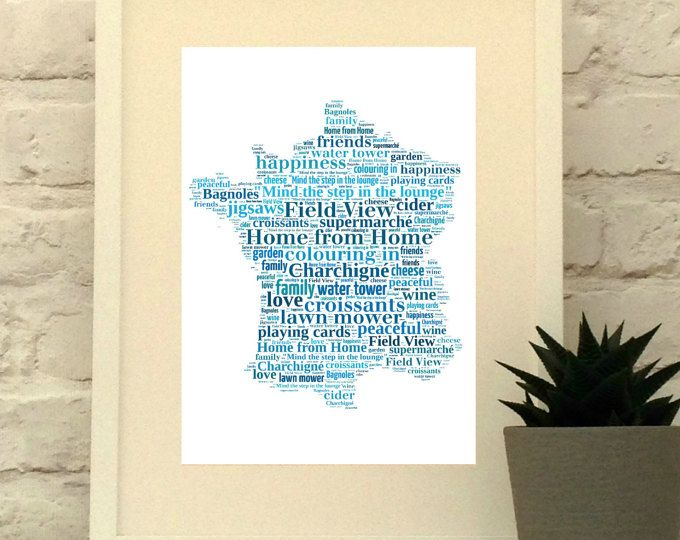 France Personalised Print  www.pepperdoodles.co.uk #france #frenchart #holdayhome