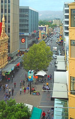 One end of Rundle Mall Adelaide and Rundle Street, looking east - this and The Parade are my local shopping centres so had to re-pin. S