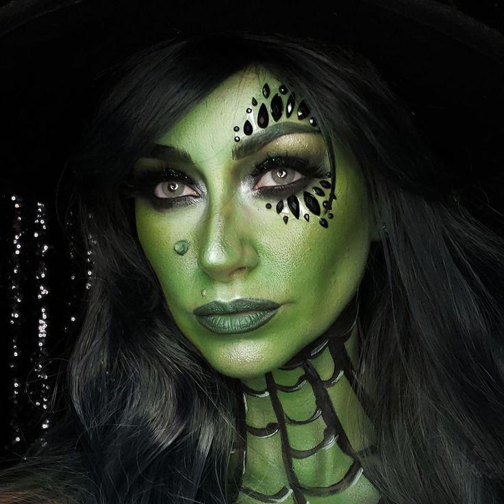 Halloween Gesichter Hexe.Sie Werden Das Beliebteste Halloween Kostum Mit Diesem Bosen Hexe Make Up Halloween Make Up Hexe Make Up Halloween Makeup Halloween Make Up Hexe
