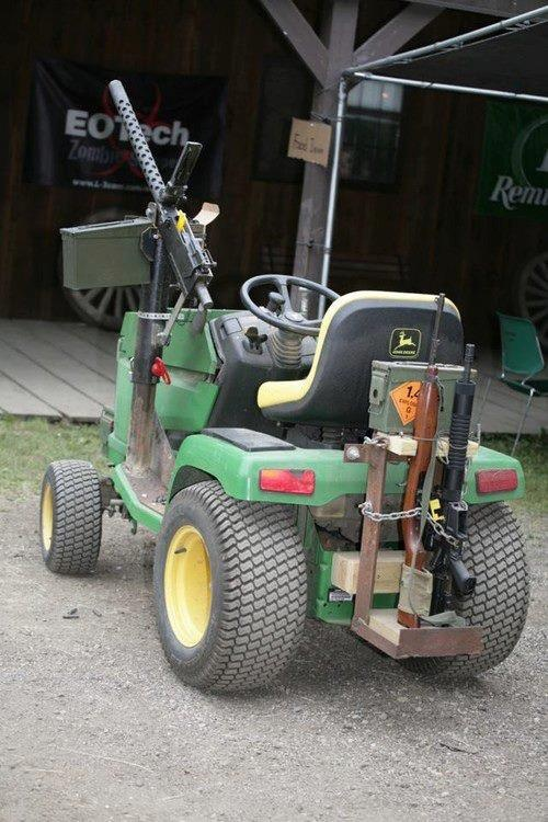 How Build Garden Pulling Tractor