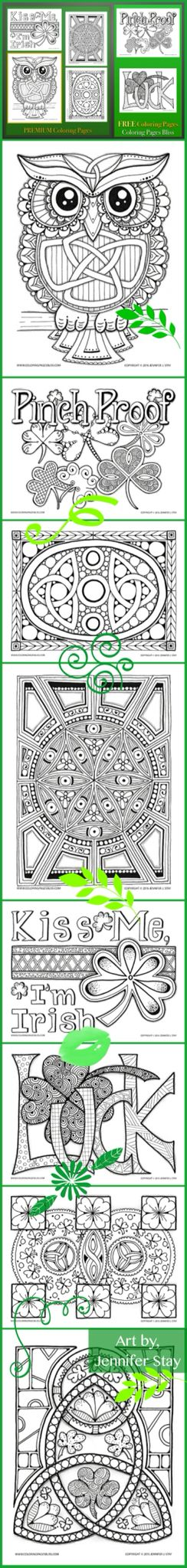 Coloring Pages For St Patricks Day Printable By Jennifer Stay Full Of