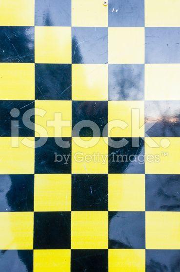 Pattern - Yellow-Black Checkerboard royalty-free stock photo