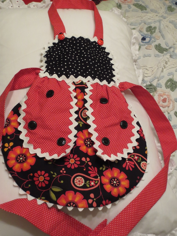 This is the ladybug apron I made for my granddaughter.