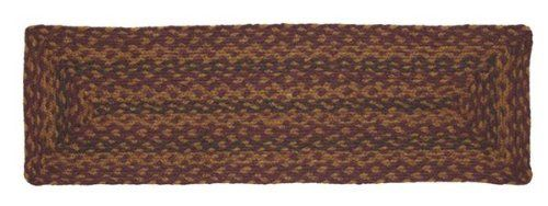 "Vineyard Path Jute Stair Tread Rectanglar 8.5x27"" by Victorian Heart. $11.20. High end quality and workmanship!. Product measurements and additional details listed in title and/or Product Description below.. All cloth items in our collections are 100% preshrunk cotton. All braided items (like rugs, baskets, etc.) are 100% jute. See Product Description below for more details!. Extensive line of matching items and accessories available! (Search by Collection name). 100% Jute"