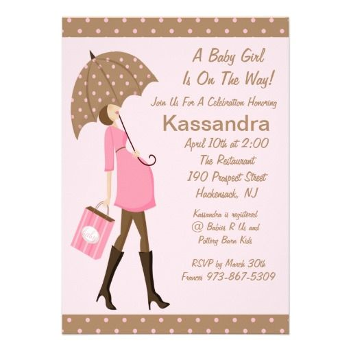 22 best pink and brown polka dot baby shower invitations images on girl modern mom to be baby shower invitation filmwisefo Choice Image