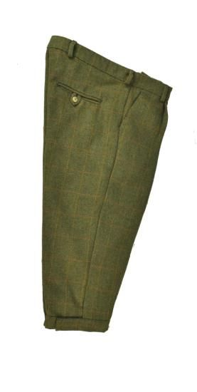Hunter Outdoor Country Tweed Shooting Breeks - Green Tailored with a front pleat for a comfortable fit Fully Lined for comfort and warmth Adjustable
