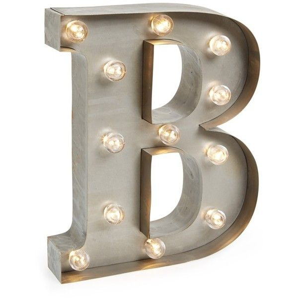 Besttime LED Letter Light featuring polyvore, home, lighting, b, battery operated light, battery powered lights, battery light, battery lights and battery powered lamps