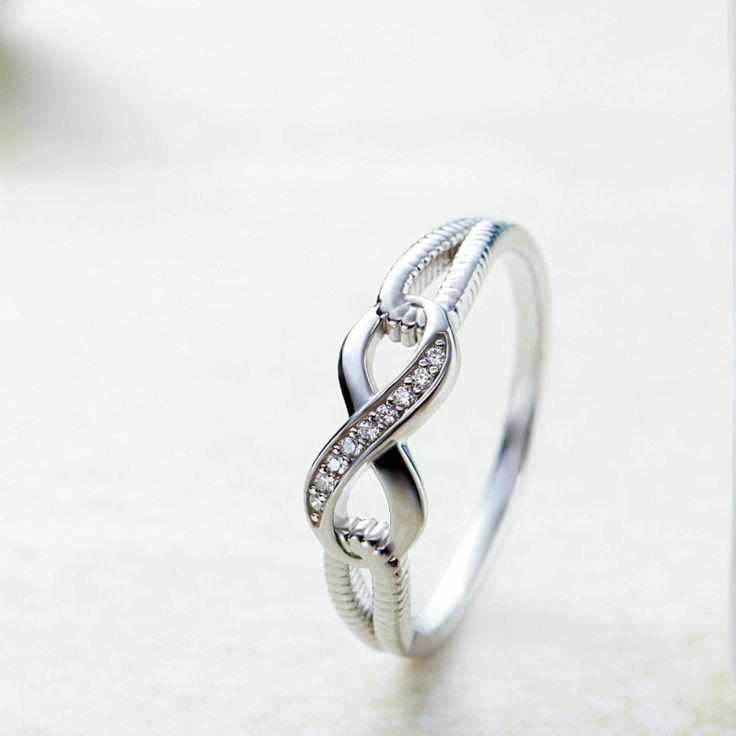 925 Sterling Silver Round Cut White Sapphire Promise Rings For Her