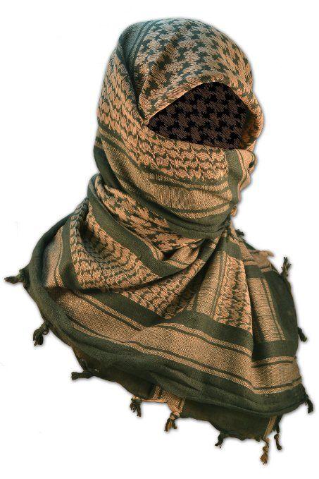 Amazon.com: Fox Outdoor Tactical Shemagh Keffiyeh Desert Head Scarf - Chocolate/Black: Clothing