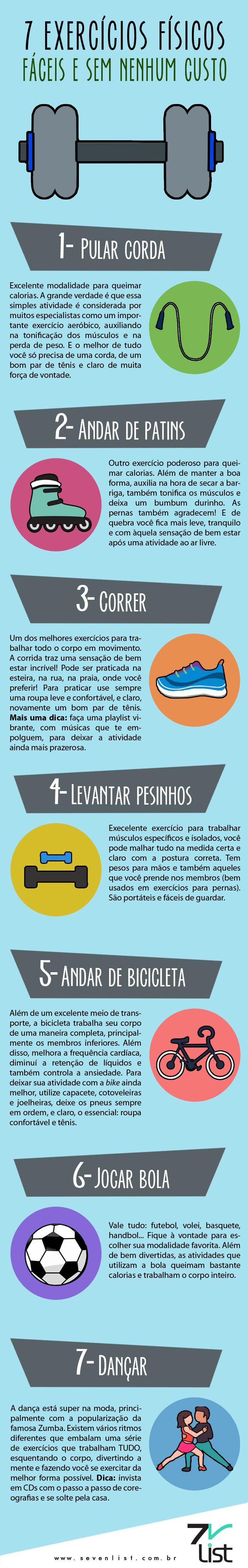 #Infográfico #infographic #design #exercícios #físicos #malhar #atividades #pular # corda # andar # patins #correr #levantar #pesos #bicicleta #jogar #bola #dançar #movimentar-se #saúde #bemestar #fitness #vidasaudável #viverbem #saudável