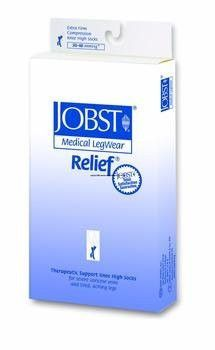 >Relief kn hi bge med 30-40clsd. Relief Therapeutic Knee High Support Stockings, 30-40 mmHg