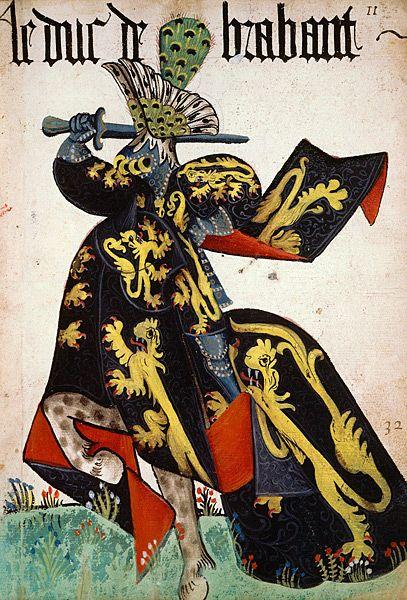 KNIGHTS: Le duc de Brabant, Grand Armorial équestre de la Toison d'Or, Flandres…