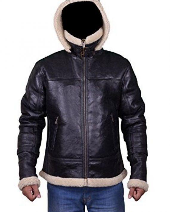 Men B3 Bomber Sheepskin Shearling Jacket