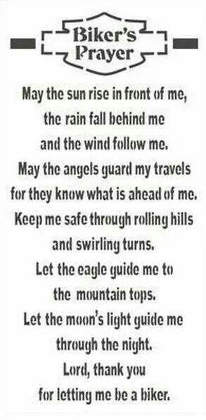 Biker's Prayer: