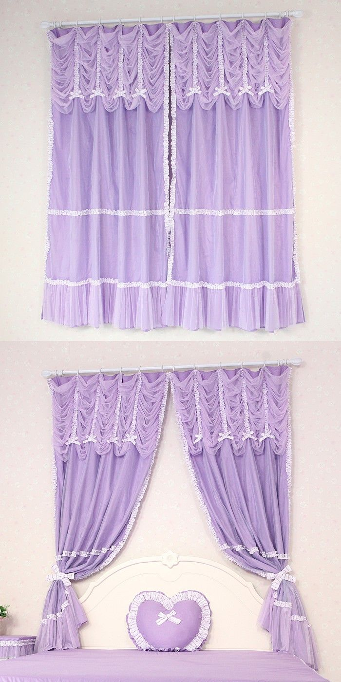 Designer small basement window curtains and pink kids plaid cute kids - Custom Luxury Purple Modern Sheer Tulle Curtains For Windows Kids Living Room Drapes Window Curtain Valance Shades Lace Cortinas