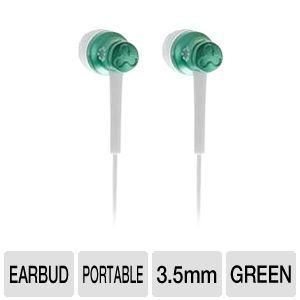 FREE Buy Dealz ::Memorex EB50 Earbuds - 20Hz-20kHz, 89dB, 16 Ohms, 3.5mm Jack, Green (4 Color Options)