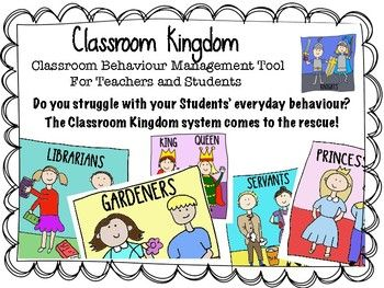 Do you struggle with your Students' everyday behaviour?  The Classroom Kingdom system comes to the rescue!  It is an eye catching, student-engaging and effective system for establishing and evaluating Behaviour Rules in your classroom. Give your Students jobs to do during the School Year.