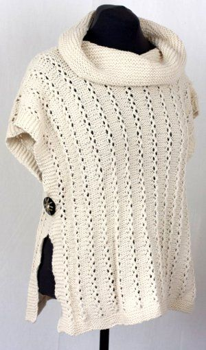 Lana D'Oro Lady Poncho By Vera Sanon - Free Knitted Pattern - Scroll To Photo For PDF Pattern - (cascadeyarns)
