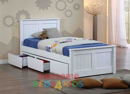 Cody Bed Frame with Drawers (Trundle option also available)