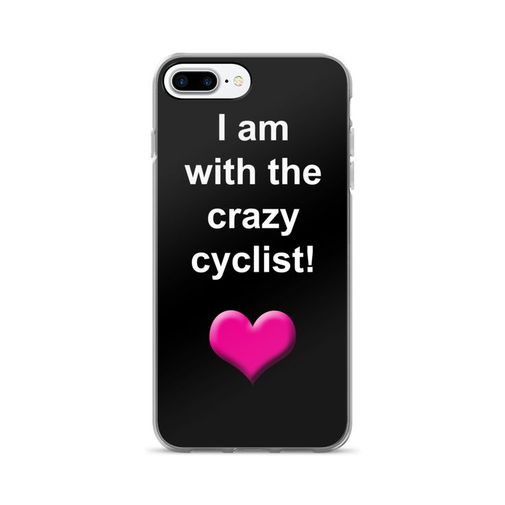 I Am With The Crazy Cyclist iPhone Case