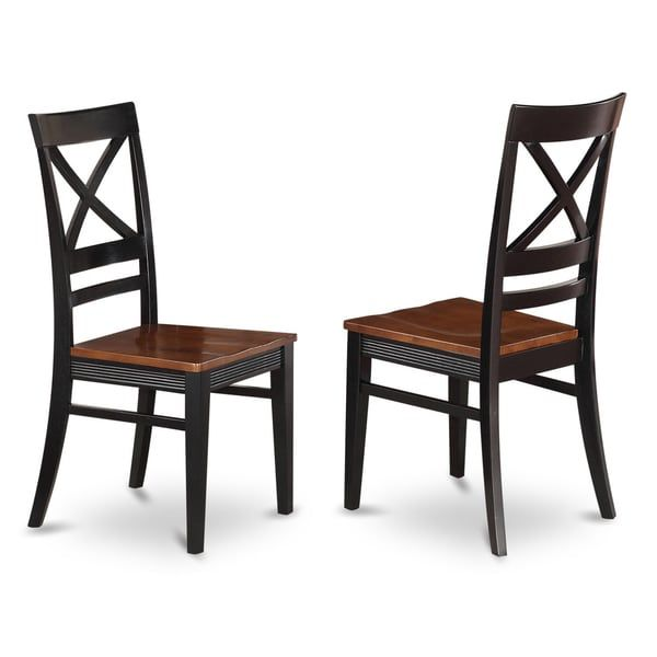 Quincy Wooden Seat X Back Dining Chair