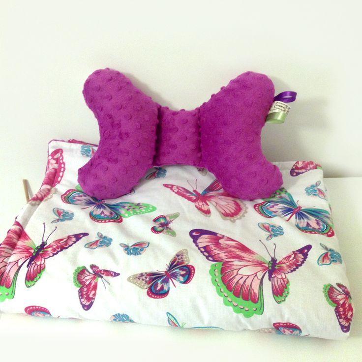Kocyk + poduszka motylek, wzory do wyboru !  FB/ PoszyjemyZobaczymy