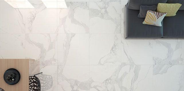 Calacatta Marble Look Porcelain - Result of the passion for marble and of scrupulous research conducted within the most renowned quarries.