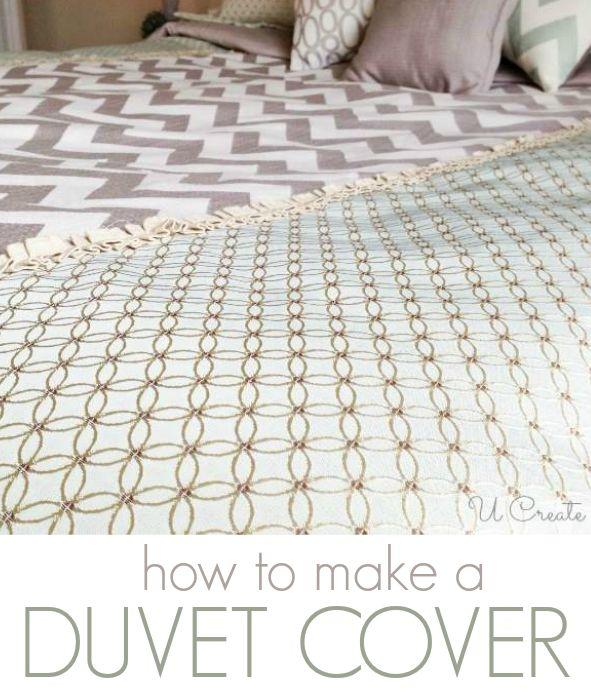 How to Make a Duvet Cover www.u-createcrafts.com