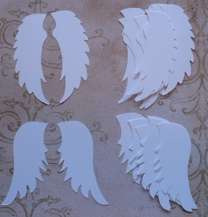 Elegant Engelsflügel Basteln  Traditionelle Weihnachtssymbole Und Mehr